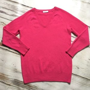 Equipment Cashmere Sweater V-neck Pullover Pink XS